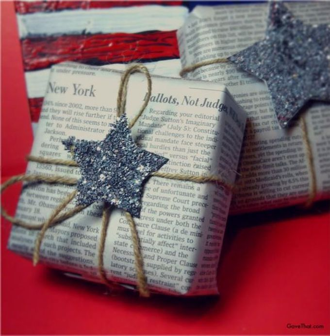 Newspaper wrapping paper