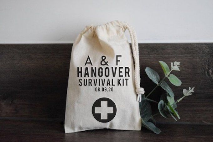 hangover recovery kit unusual wedding favour