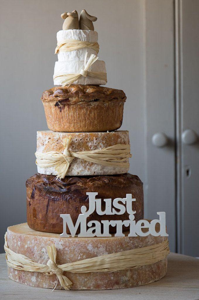 cheese and pork pie wedding cake