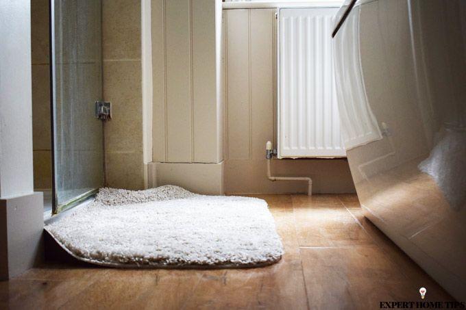 bathroom mat cream