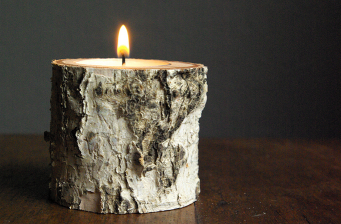 Such a stylish way to display a tealight.