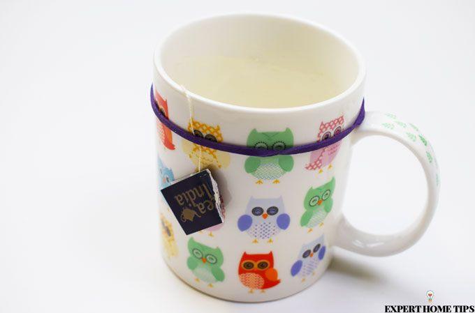 elastic bands on mug