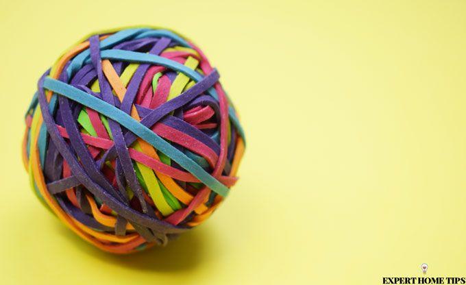 elastic band bouncy ball