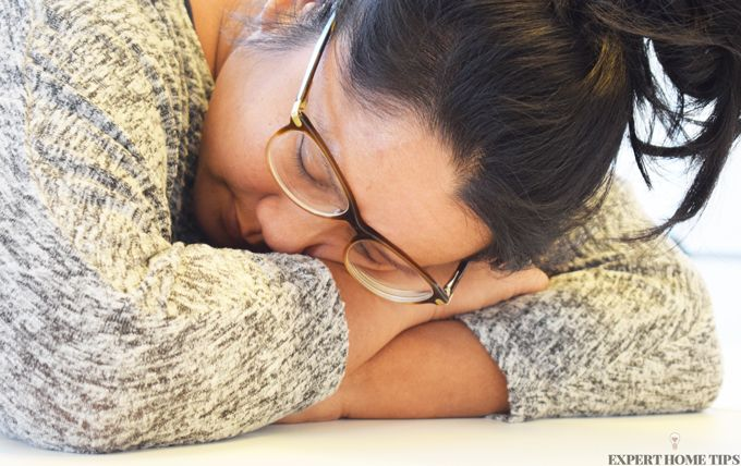 girl lying on arm