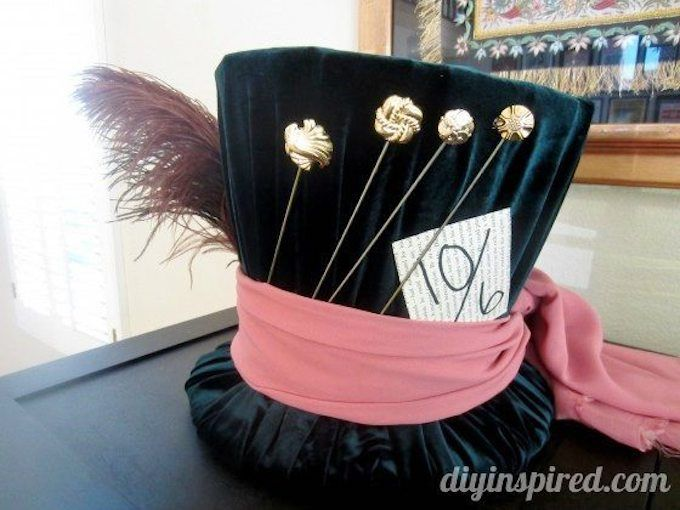 mad hatter's tea party hat DIY