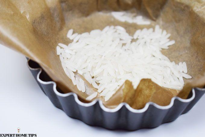 rice as baking beans