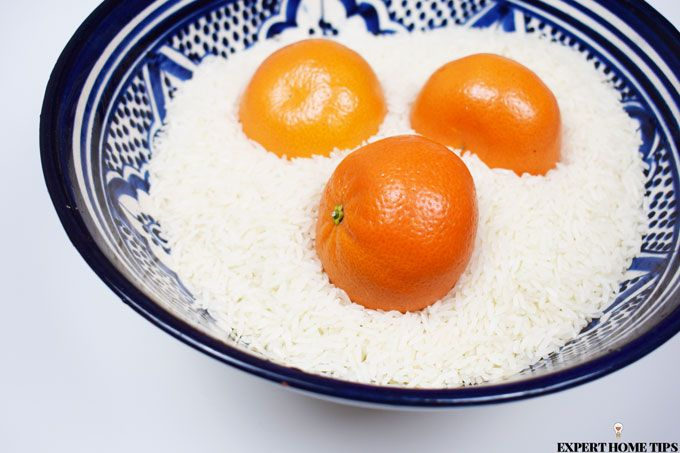 ripening satsuma with rice