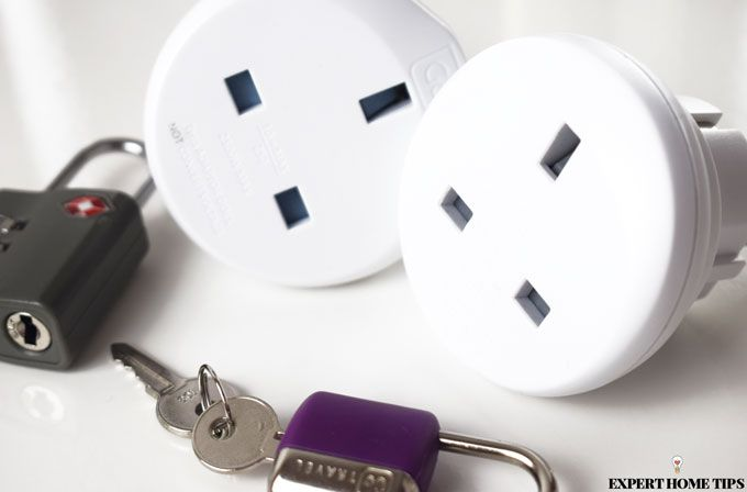 travel adapters and locks